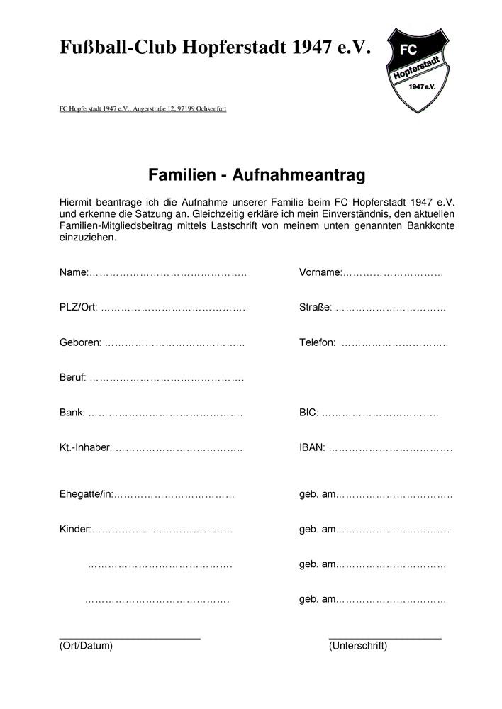 FCH - Mitgliedschaft